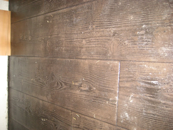 Wood Plank Stamped Concrete Floors : Wood plank stamped concrete car interior design